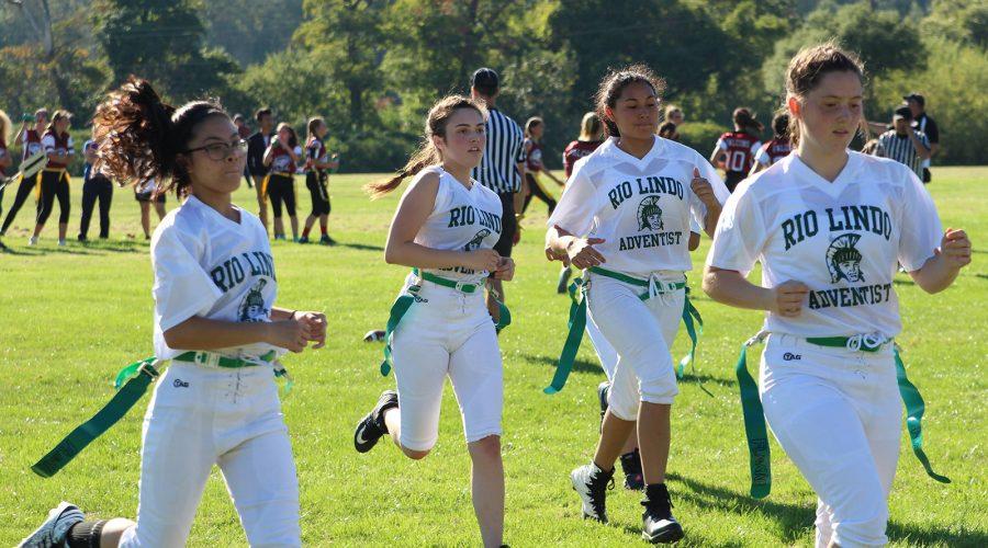 football team runs back for a break