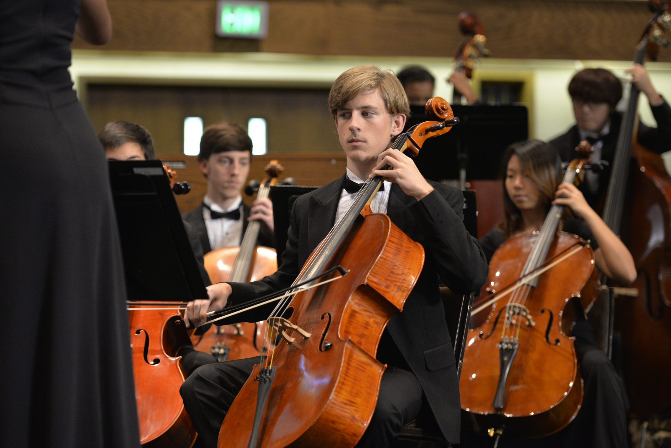 orchestra plays christmas concert